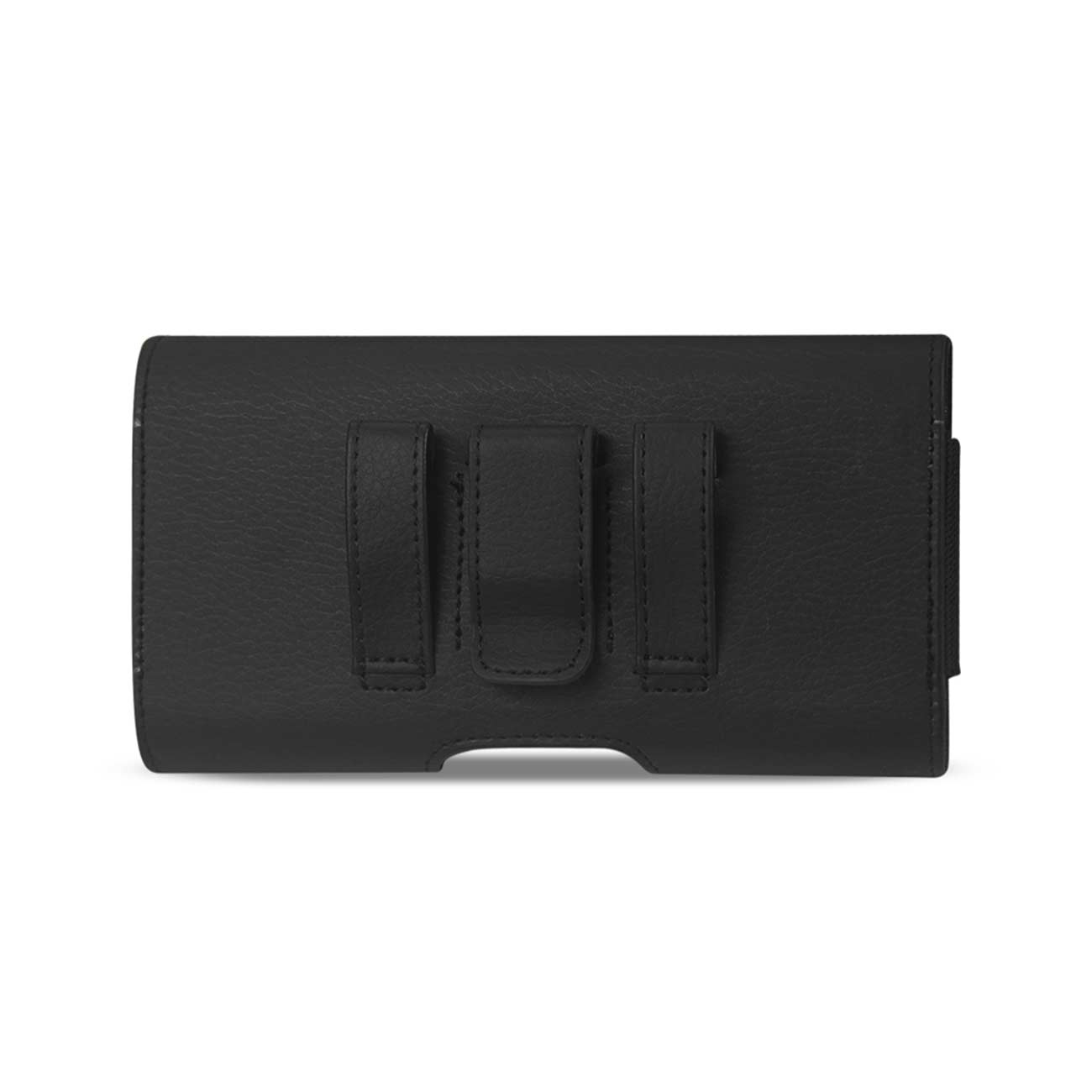 Reiko Horizontal Leather Card Holder Pouch Black In Cardboard Packaging 552905(SAMS4SL) HP500B-BK