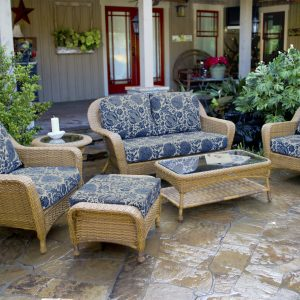 Sea Pines Collection 6 Piece Deep Seating Set with Loveseat