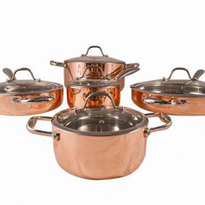 5-ply Copper 10 Piece Cookware Set 10PC5PLYSKC901-GAL