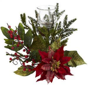 Poinsettia Candleabrum 4951