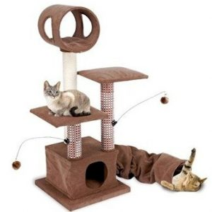 Activity Lounging Tower with Tunnel and Hide Away CATF18