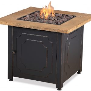 BLUE RHINO LP GAS OUTDOOR FIRE TABLE WITH CHISELED MANTEL GAD14400SP