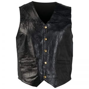 Giovanni Navarre® Italian Stone™ Design Genuine Leather Vest GFV4X-7X