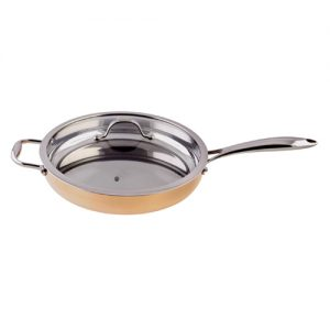 5-ply Copper Saute Pan 3 ¾-quart LCSKC901-SK12-GAL