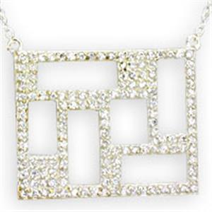 CZ Cubic Zirconia Sterling Silver 18 inch Necklace NE03-01021