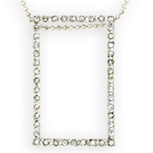 Clear Crystal 18 inch Sterling Silver Necklace NE03-01022
