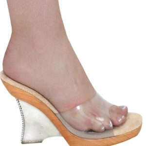 "Karo Clear 3 inch Heels with Swarovski Rhinestones 3223-3"""