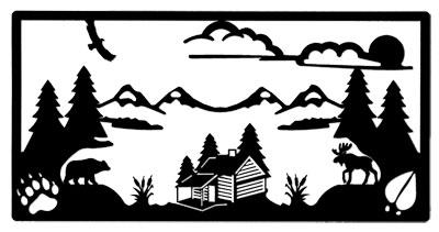 Wall Art Log Cabin WA-206