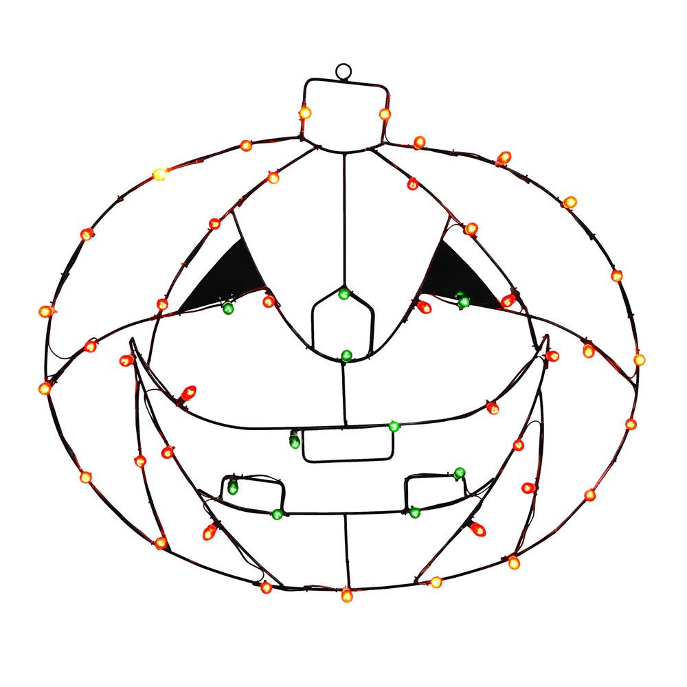 """Vickerman 48""""x34"""" Pumpkin C7 Wire Motif V146013"""