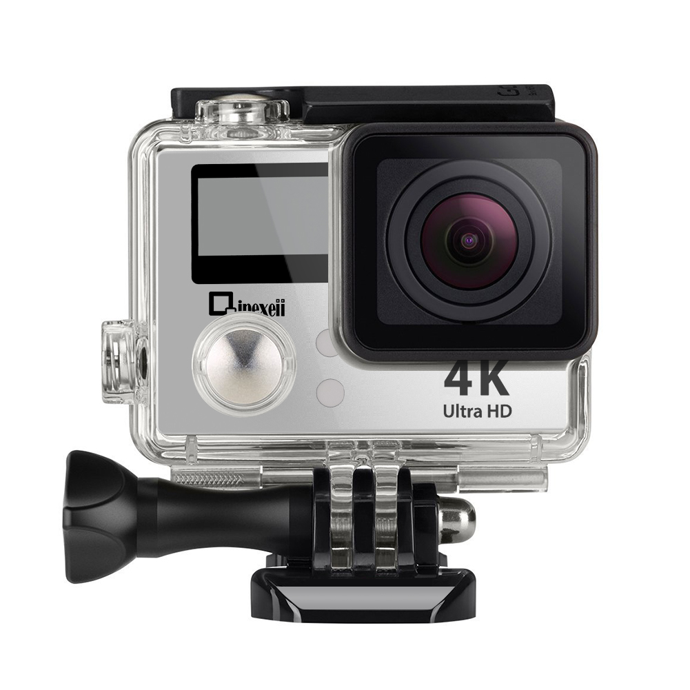 Reiko M2RBD-CAMERAPRO1SL 4K Wifi Sports Action Camera With Double Screen Sensor 100 Ft Waterproof 170° Wide Angle In Silver