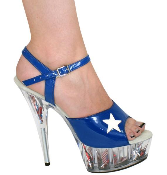 "Karo 0068 USA Collection Platform 6"" inch Clear Heels"
