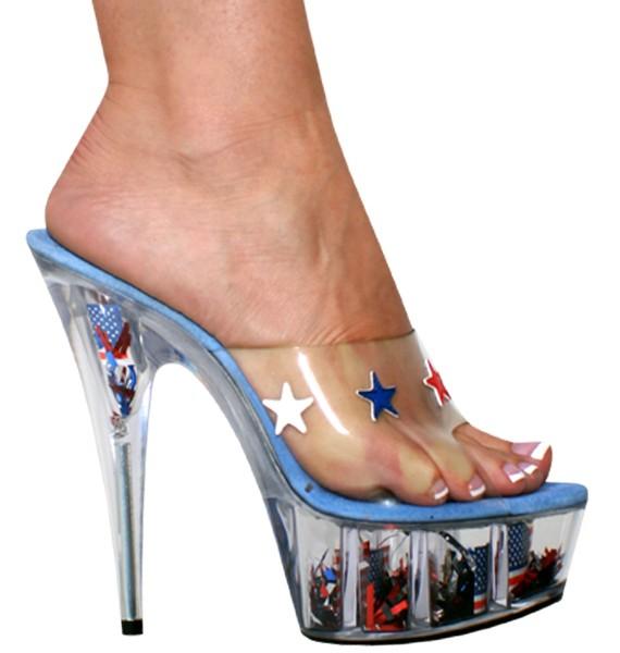 "Karo 0918 USA Collection Platform 6"" inch Clear Heels"