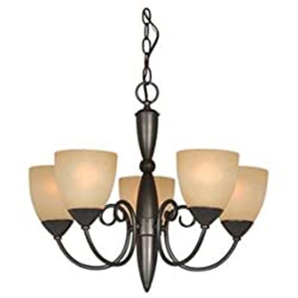 Classic Style 5-Light Bronze Chandelier 21-inch x 18-inch