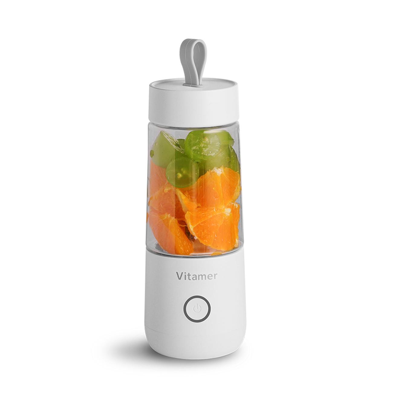 Vitamer Portable Cordless Juicer Blender Mixer USB Rechargeable White ES03-JCUPWH