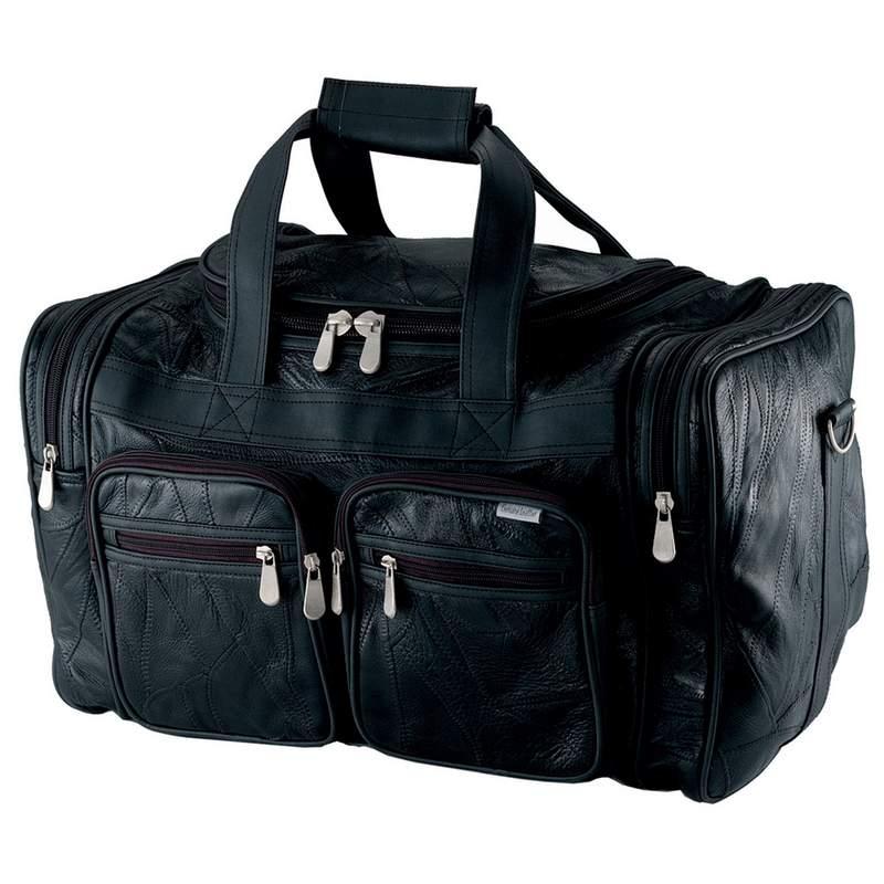 "Embassy Italian Stone Design Genuine Buffalo Leather 19"" Tote Bag LUBL19"