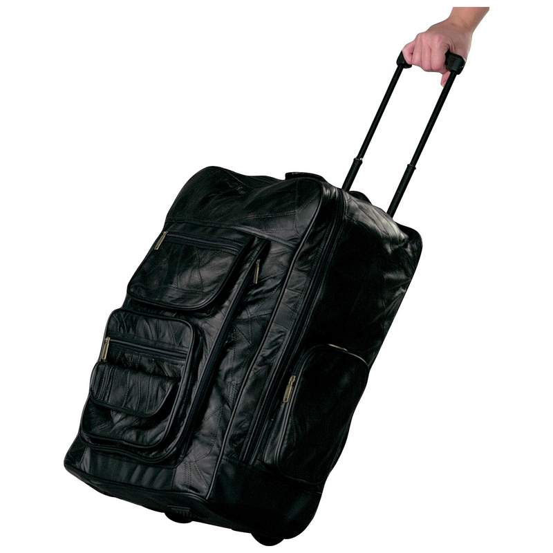 """Embassy™ Italian Stone™ Design Genuine Leather Super-Deluxe 23"""" Trolley/Backpack LUBPRC2"""