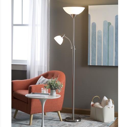 Modern 71-inch High Floor Lamp with Gooseneck Reading Light