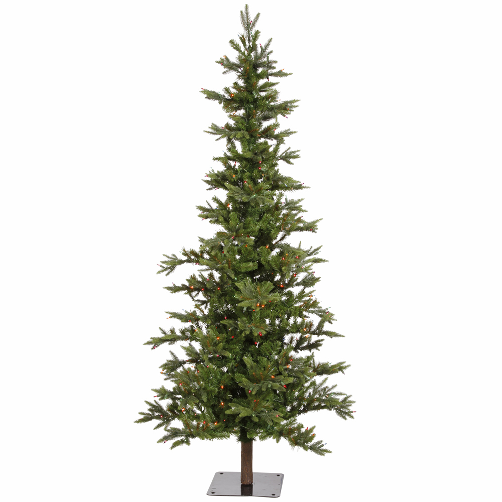 "Vickerman 6' x 42"" Shawnee Fir Multi-Colored Incandescent Dura-Lit 250 MU Lights A101867 Artificial Christmas Trees"