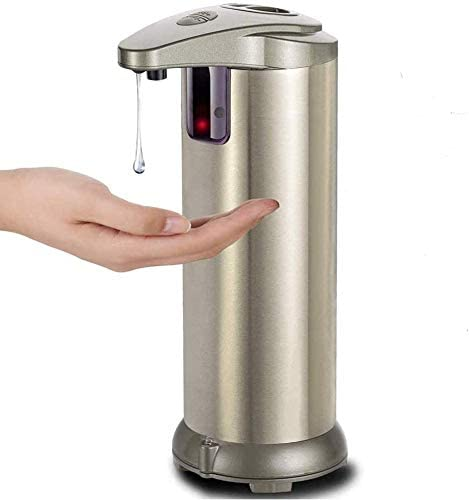 Automatic Touchless Soap Dispenser & Hand Sanitizer Dispenser, Motion-Activated, Infrared Sensor for Home & Office, Bathrooms & Kitchen Battery Operated, No-Touch Dispenser for Soap & Hand Sanitizer