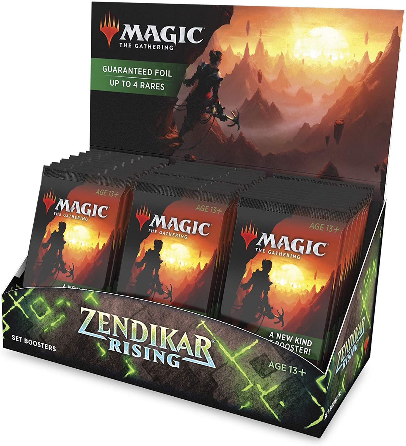 Magic: The Gathering Zendikar Rising Set Booster Box | 30 Packs (360 Cards) + 1 Box Topper | Foil in Every Pack
