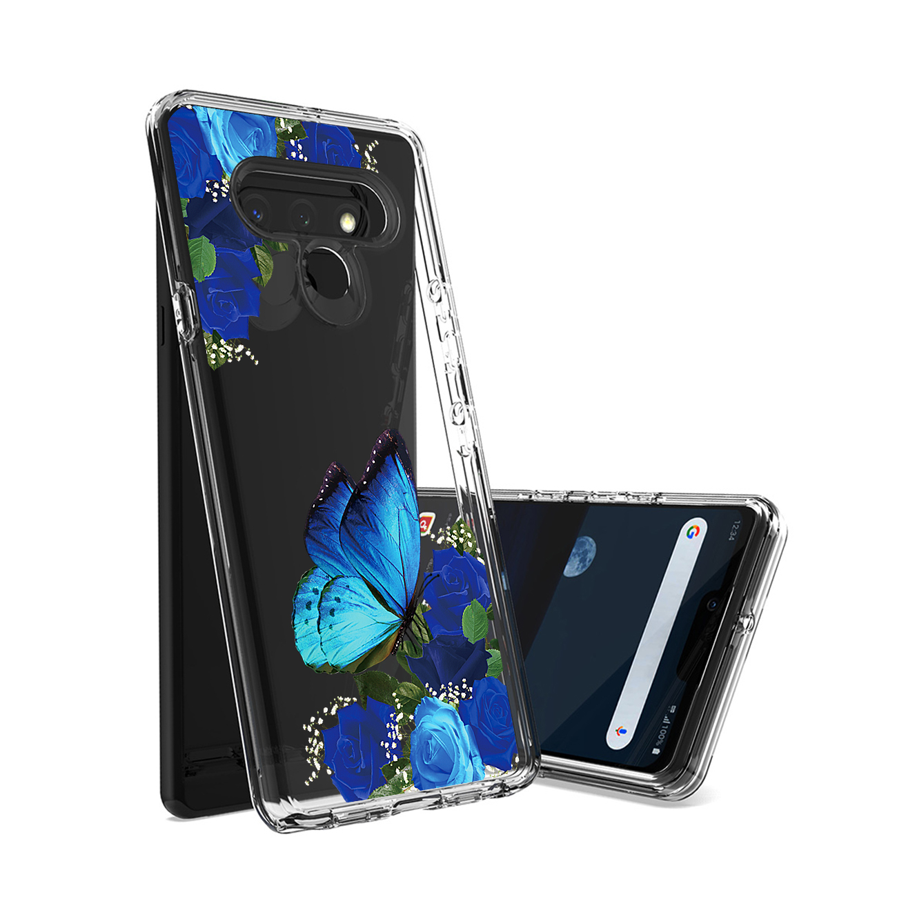 Pressed dried flower Design Phone case for LG Stylo 6 In Blue PC25-LGSTYLO6BL