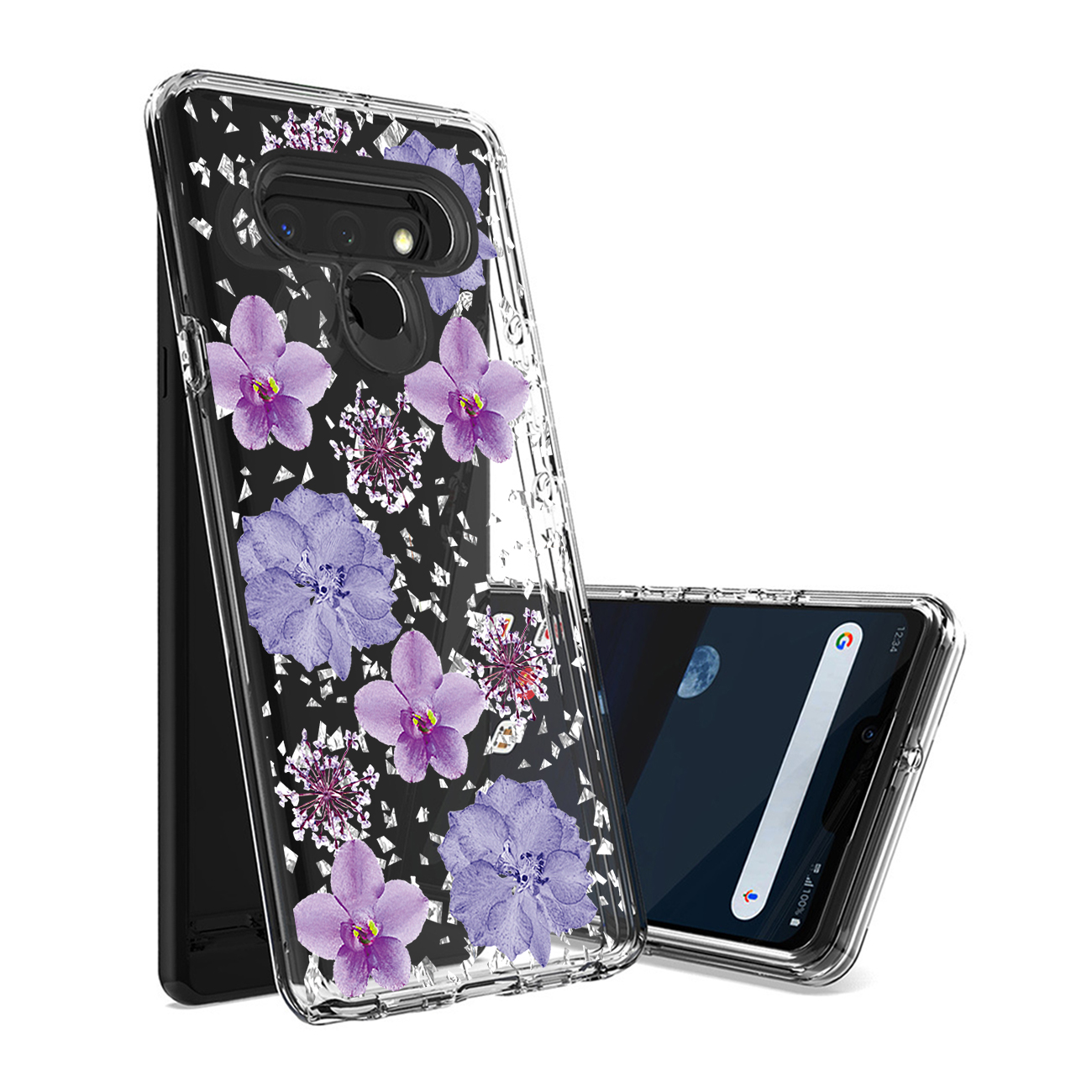 Reiko Pressed dried flower Design Phone case for LG Stylo 6 in Purple PC25-LGSTYLO6PP