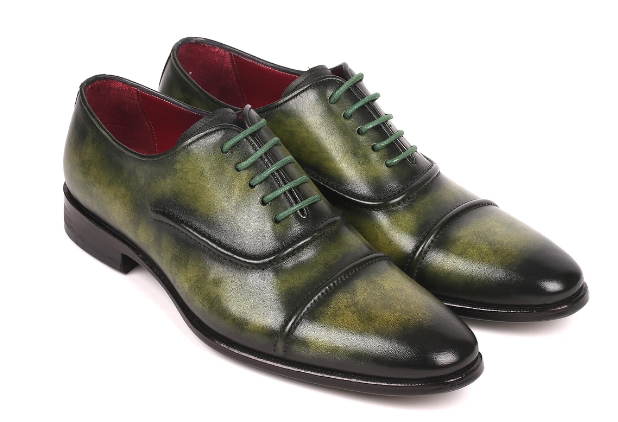 Paul Parkman Men's Cap-Toe Oxfords Green 077-GRN