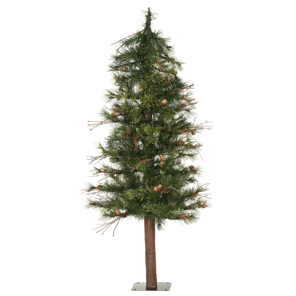 """Vickerman 3' x 24"""" Mixed Country Alpine Artificial Christmas Tree Unlit A801930"""