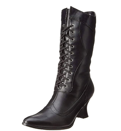 Ellie Shoes ELLIE 253 AMELIA Womens Black PU Boots, Size - 6