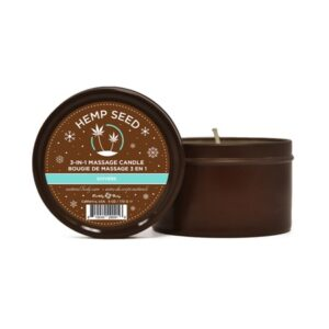 Earthly Body Hemp Seed Holiday Candle Shivers 6 oz