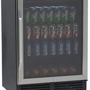Avanti BCA516SS 5.0 CF Beverage Cooler With Glass