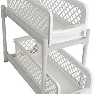 "IdeaWorks 2 Tier Basket Drawers,6"" DRWR, standart, White"