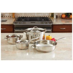 Ever Clad™ 7 piece Heavy Duty Stainless Steel Cookware Set