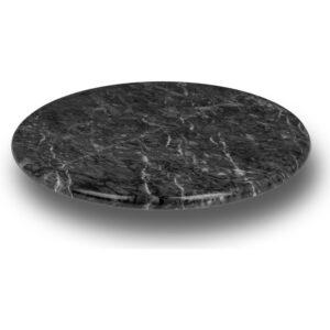 Elegant Dark Marble Lazy Susan