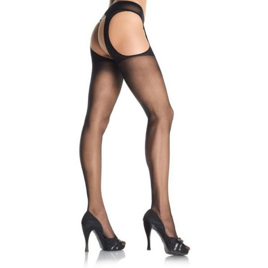 Leg Avenue Sheer Suspender Pantyhose LG215