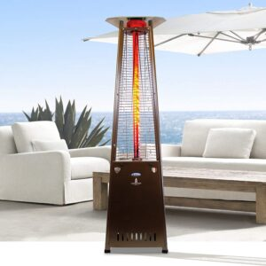 Lava Heat Italia 2G A-Line 8 foot Liquid Propane Commercial Flame Tower Heater, Electronic Ignition, Heritage Bronze Finish