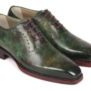 Paul Parkman Green Marble Patina Goodyear Welted Oxfords ID#56GRN37