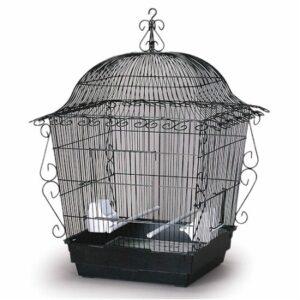Prevue Hendryx Elegant Scrollwork Bird Cage BLACK