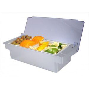 4 Pint Chrome Fruit Tray Condiment Holder