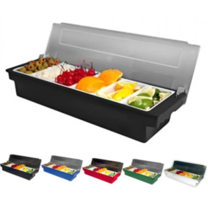 6 Pint Compartment Condiment Fruit Tray