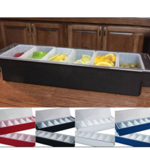 6 Pint Condiment Holder Fruit Tray with Flat Lid