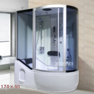 A5 Household Bathroom Integrated One-piece Tempered Glass Steam Shower Room With Bathtub 110V/220V 3000W