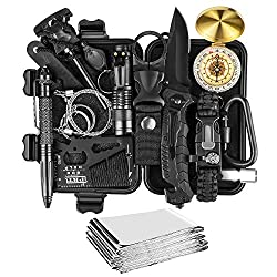 KOSIN Survival Gear and Equipment,18 in 1 Emergency Survival Kit