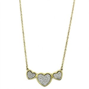 """Women's No Stone No Stone Stainless Steel 16"""" Inch Necklace NE0T-09366"""