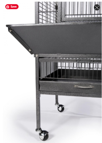 Prevue Hendryx Small Wrought Iron Select Bird Cage PP-3151 black