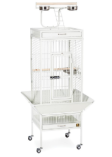 Prevue Hendryx Small Wrought Iron Select Bird Cage PP-3151 chalk white