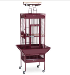 Prevue Hendryx Small Wrought Iron Select Bird Cage PP-3151 red
