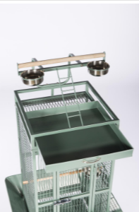 Prevue Hendryx Small Wrought Iron Select Bird Cage PP-3151 sage green