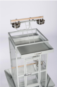 Prevue Hendryx Small Wrought Iron Select Bird Cage PP-3151 pewter white
