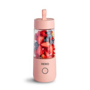 Reiko 350ML Portable Blender With USB Rechargeable Batteries In Pink